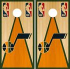 Utah Jazz Cornhole Wrap NBA Game Skin Board Vinyl Decal Vintage Set CO719 on eBay