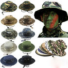 Bucket Hat Boonie Hunting Fishing Sun Camo Outdoor Cap Wide Brim Military Unisex
