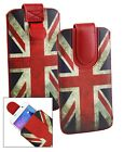 Stylish PU Leather Pouch Case Cover Sleeve With Pull Tab Fits Logicom Phones günstig