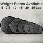 Yes4All Weight Plate Cast Iron Fitness Gym Home Exercise 1 Inch - Single & Pair