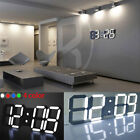 Night Fashion Wall Clock Home Kitchen LED Digital Numbers 24/12 Hour Display