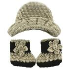 Baby Photography Knitted Crochet Costume Plant Hand-woven Photo Props + Hat