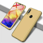 For Xiaomi Redmi 7 7A 6A 5 Note 7 6 5 Pro 360° Full Cover Case + Tempered Glass