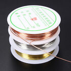 0.3/0.4/0.6/0.8mm  Plated Copper Wire Beads Jewelry Making DIY Craft Hot Gift