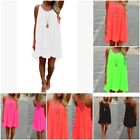 Four Kinds Womens Bikini Cover Up Chiffon Sling Dress Stitching Backless Dress