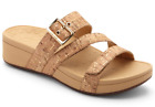 Vionic Rio Wedge Slide Sandal Adjustable Velcro & Buckle Arch Support Footbed