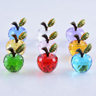 8 Colors Crystal Paperweight Glaze Apple Figurine Glass Wedding Decor Gift 40mm