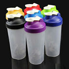 400/600ml Shake Protein Blender Shaker Mixer Cup Drink Whisk Ball Glass 8Colors