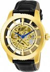 Invicta Men's Vintage Automatic Stainless Steel/Black Leather Watch