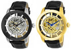 Invicta Men's Vintage Automatic Stainless Steel/Black Leather Watch image