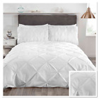 Rapport Balmoral Pinch Pin Tuck Duvet Cover Bedding Set Grey White
