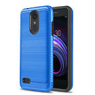 for LG ARISTO 2 / 3 / PLUS, [Modern Series] Phone Case Cover +Tempered Glass