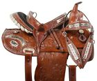 14 15 SILVER COWGIRL WESTERN BARREL RACING SHOW  HORSE LEATHER SADDLE TACK