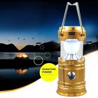 Solar Power Camping Light Telescopic USB Rechargeable Emergency LED Lamp GO