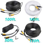 50ft/100ft/150ft BNC Surveillance Cord CCTV Video Power Security Camera Cable