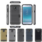 Hybrid Brushed Armor Rubber Card Slot Case Cover for Samsung Galaxy J2 Pro 2018
