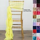 CHAIR SASHES Curly Chiffon Wedding Party Reception Home Decorations Wholesale