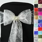 Embroidered CHAIR SASHES Bows Ties Wedding Reception Decorations Wholesale