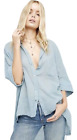 malware best free - FREE PEOPLE Best of Me Button Down Shirt Top Mult Sz