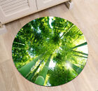 Bamboo Forest Green Reeds Round Floor Mat Bedroom Carpet Living Room Area Rugs