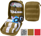 Tactical Trauma Kit Pouch Fully Stocked Medical Supplies MOLLE First Aid Case