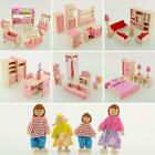 Kyпить Kid Pink Wooden Furniture Dolls House Miniature 6 Room Set Doll For Xmas Gift TR на еВаy.соm