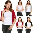 New Women Casual V-Neck Batwing Open Front Solid Knit Cardigan DZ88