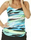 Ocean Dream Signature Away We Go Shirred Tankini Swim TOP Only~A231618