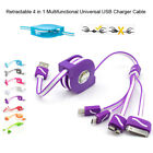 4 in1 Universal Multi-Function USB Charging Charger Cable Cord For Mobile Phone