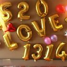 "1 pc Gold 16"" NUMBER Festive Mylar Foil Balloon Party Birthday Decorations SALE"