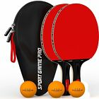 Professional Ping Pong Paddle Bat Tournament Sports Table Tennis Racket W/ Case