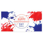 Paint Splat Patriotic Happy 4th of July Party Banner Decoration