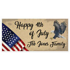 Traditional Patriotic Happy 4th of July Party Personalized Banner Decoration