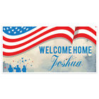 Soldiers Flag Watercolor Welcome Home Military Personalized Banner Party Back...