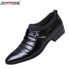New Leather Pointed Shoes Mens Formal Wedding Oxfords Casual Toe Dress Shoes
