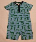 NWT Gymboree Spring Vacation Alligator Gator Print Romper 1PC Baby Boy