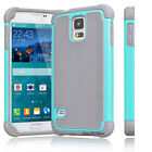 For Samsung Galaxy S7/Edge/S5 Case Shockproof Hybrid Armor Rugged PC Phone Cover