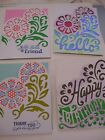 Homemade/Handmade greeting cards Birthday Friend Get well Thank you