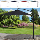 3M Overhanging Parasol Cantilever Garden Sun Shade Patio Banana Large Umbrella