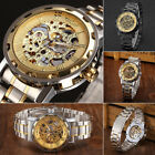 New Winner Men's Skeleton Stainless Steel Steampunk Mechanical Sport Wrist Watch image