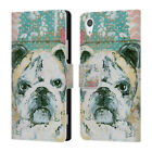 OFFICIAL AMANDA HILBURN ANIMALS LEATHER BOOK WALLET CASE COVER FOR SONY PHONES 1