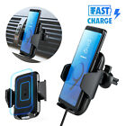 360° Qi Wireless Car Charger Holder Air Vent Mount Universal Phone Bracket Stand