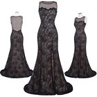 sexy black formal gowns - Ball Evening Dress Prom Formal Black Lace Party Wedding Sexy Bridesmaid Gown