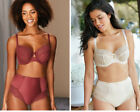 BRAVISSIMO Quinn Balconette Bra (D18) Or Briefs(U4) in Ivory OR RUST by Panache