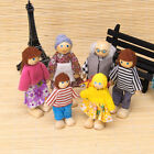 4/6Pcs Baby Children Wooden Puppet Family Doll Finger Playing Educational Toys