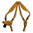 Premium Nubuck Leather Shoulder Holster With Single Magazine Carrier fits, HS