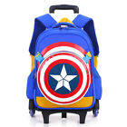 NEW Removable Children Kind Bags with 6 Wheels Trolley Backpack Kids Book Bag