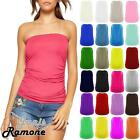 New Womens Plain Boobtube Bandeau Strapless Side Ruched Summer Vest T-Shirt Top