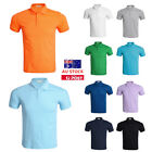 Mens Slim Fit Polo Golf Short Sleeve Cotton T-shirt Casual Lapel Solid Tee Tops