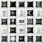 18'' Cotton Funny Words Yoga Pillow Case Cover Sofa Car Cushion Cover Home Decor